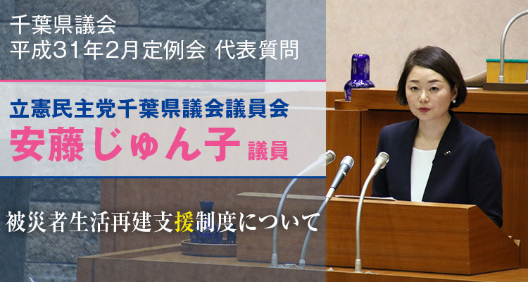 安藤じゅん子の代表質問「被災者生活再建支援制度について」
