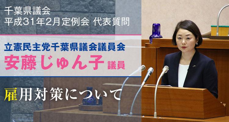 安藤じゅん子の代表質問「雇用対策について」