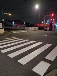 県に対して修繕依頼をしていた横断歩道が修繕されました