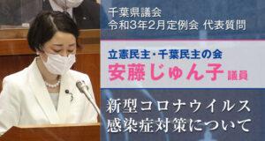 千葉県議会2月議会安藤じゅん子代表質問 新型コロナウイルス感染症対策について